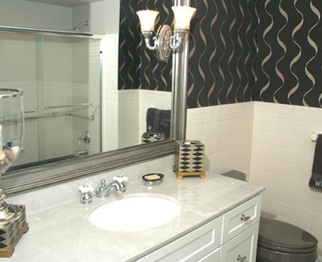 Black wallpaper bathroom 2017 grasscloth wallpaper - Wallpaper designs for bathroom ...