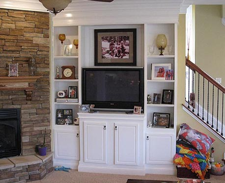 Fireplace Shelving Tv